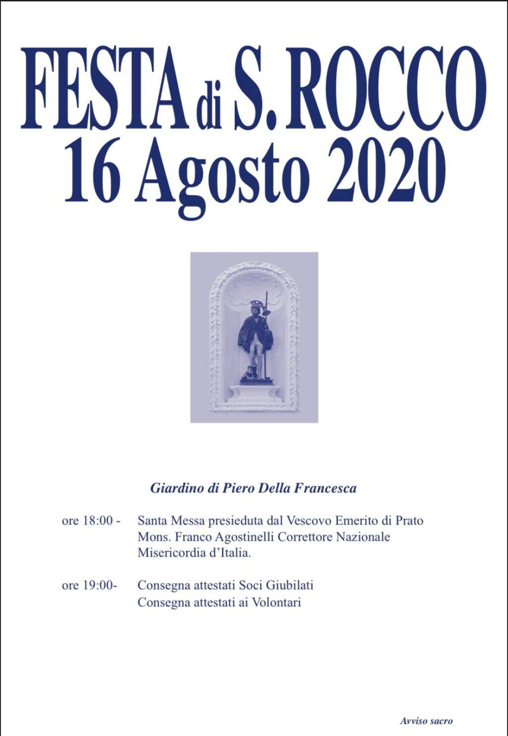 Festa S.Rocco 16 agosto 2020